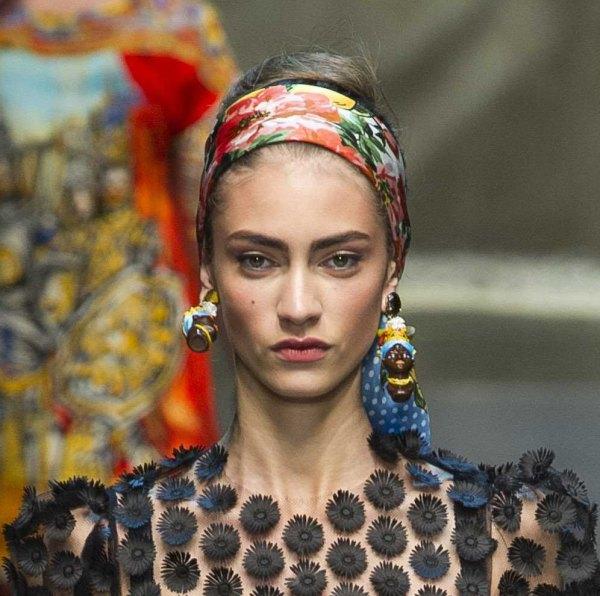Dolce and Gabbana show, Spring Summer 2013, Milan Fashion Week, Italy - 23 Sep 2012